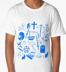 Buffy Symbology - Blue Long T-Shirt
