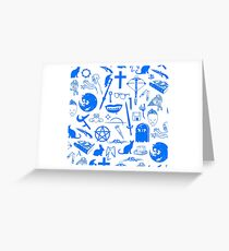 Buffy Symbology - Blue Greeting Card