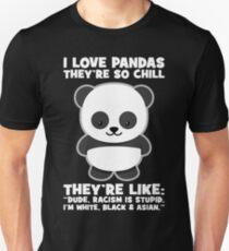 Racism Is Stupid - Panda Unisex T-Shirt