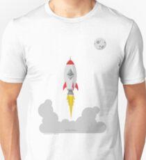 Ethereum ETH Rocket Spaceship CryptoCurrency  T-Shirt
