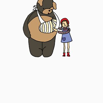 bear & girl by MedusasCousin