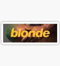 Blonde Logo Box Sticker