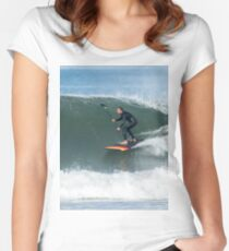 Stand up paddle surfer Women's Fitted Scoop T-Shirt