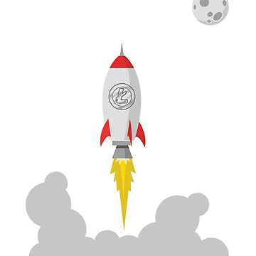 Litecoin LTC Rocket Spaceship CryptoCurrency  by UrbanLighthouse