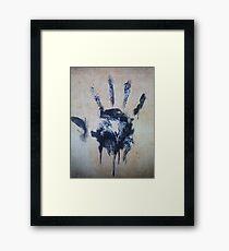Black hand Framed Print