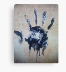 Black hand Canvas Print