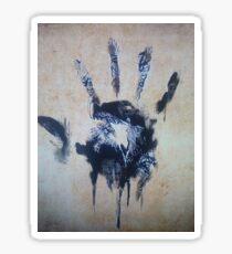 Black hand Sticker