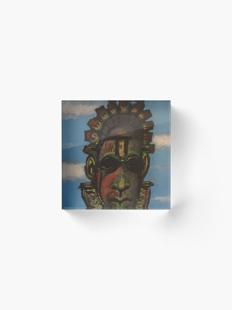 Vista alternativa de Bloque acrílico Máscara de Benin