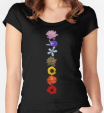 flower chakras Women's Fitted Scoop T-Shirt