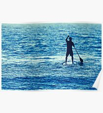 Man on Stand Up Paddle Board Poster