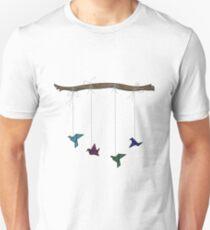 Origami Paper Crane Mobile Unisex T-Shirt