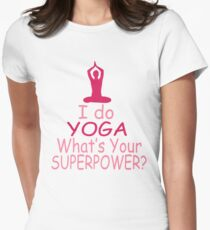 I DO YOGA Womens Fitted T-Shirt