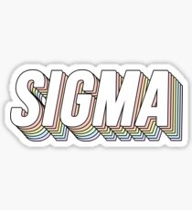 Sigma 3D Pastels Sticker
