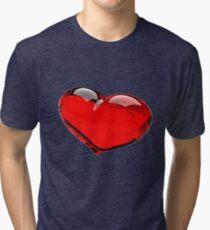 heart in 3d Tri-blend T-Shirt