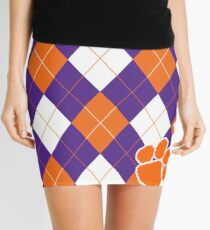 Clemson Argyle Pattern Mini Skirt