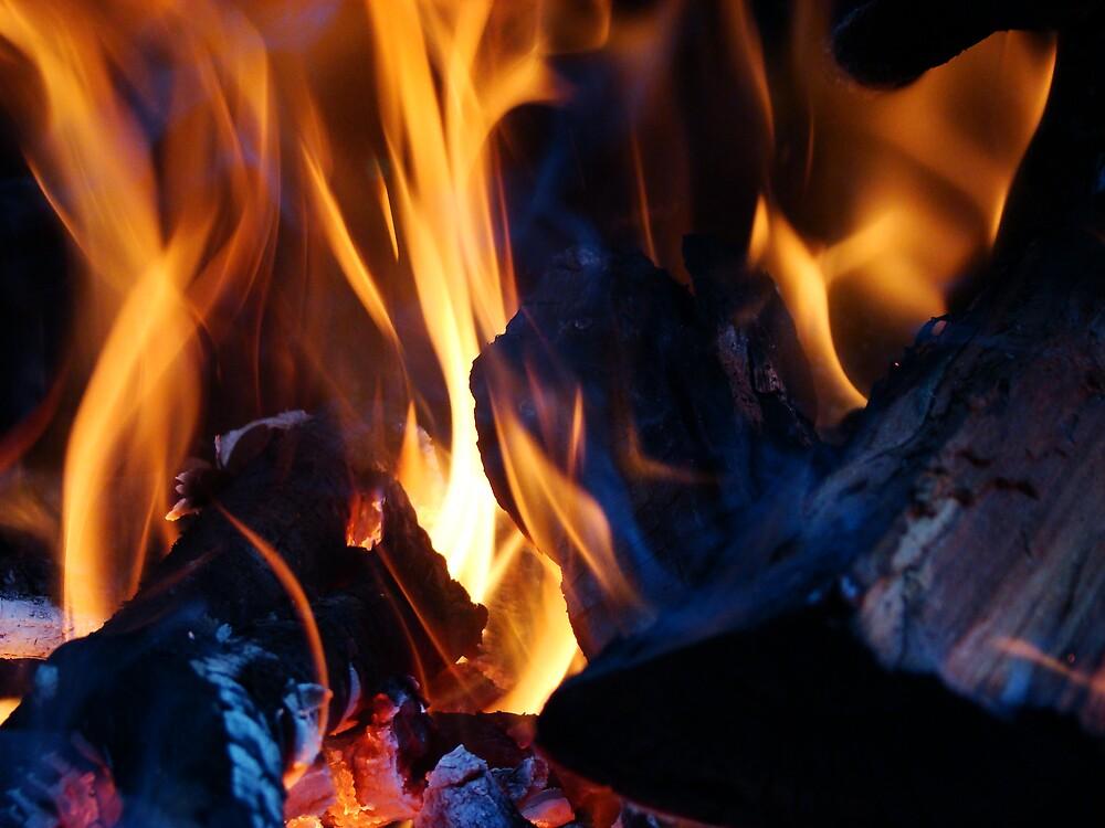 Warming fire by jade77green