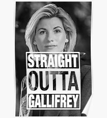 Straight Outta Gallifrey- Whittaker Poster