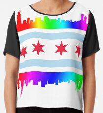 Chicago Pride Chiffon Top