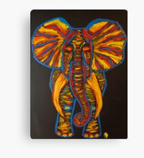Rainbow Party Elephant Finger Painted MKART Canvas Print