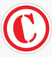 Circle C - Tilted Copyright icon Sticker