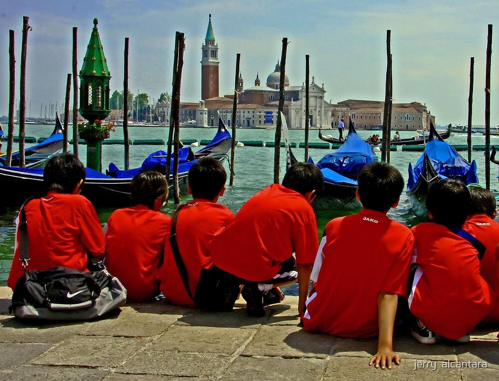Korean Boys at Venice by jerry  alcantara