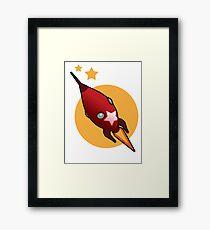 Retro Rocket Framed Print