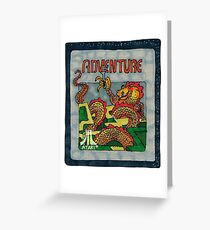 Retro Adventure Game Cartridge Greeting Card
