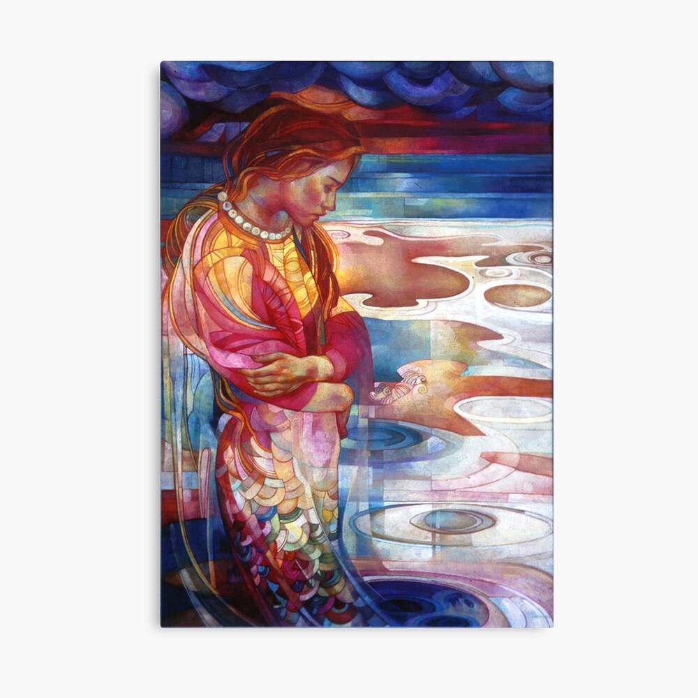 blu mermaid Canvas Print