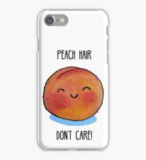 Food Pun - Peach Hair, Don't Care iPhone Case/Skin