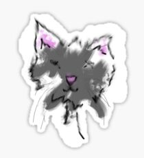 Painted Cat Sticker