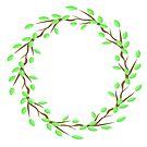 Green Leaves Frame by valeo5