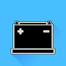 Car Battery Icon by valeo5