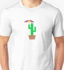 Cactus with Umbrella Line Unisex T-Shirt