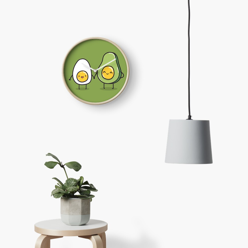Ei und Avocado Uhr