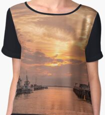 Whitstable Harbour Chiffon Top