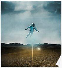 A Levitating Astronaut Poster