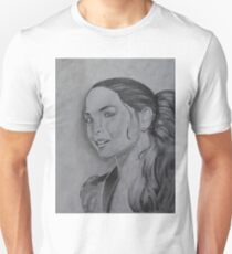 Kristin Kreuk Pencil Drawing Unisex T-Shirt