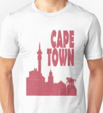 I Love my city Cape Town. Capital city silhouette with touristic places T-Shirt