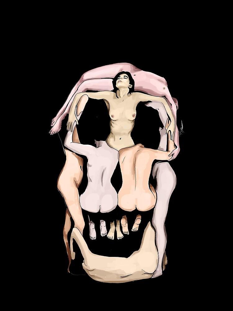 Calaveras de Salvador Dalí de RockTheShirt