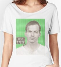 Lee Harvey Oswald Mug Shot – Green Women's Relaxed Fit T-Shirt