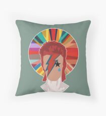 David Bowie Pop Union Throw Pillow