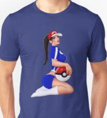 Nintendo Pokemon Babe Ash Sexy Pinup Girl T-Shirt