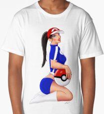 Nintendo Pokemon Babe Ash Sexy Pinup Girl Long T-Shirt