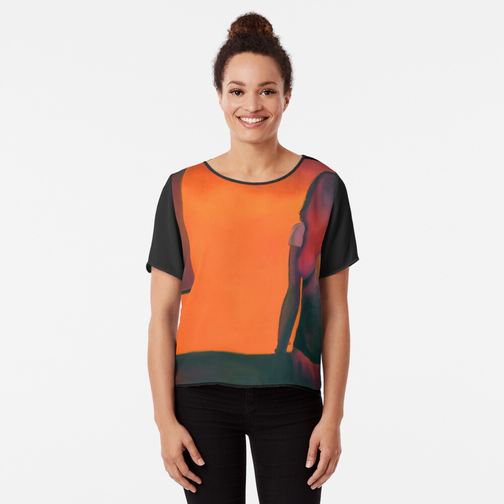 Burning flame, 2014, 120-80cm, oil on canvas Women's Chiffon Top Front