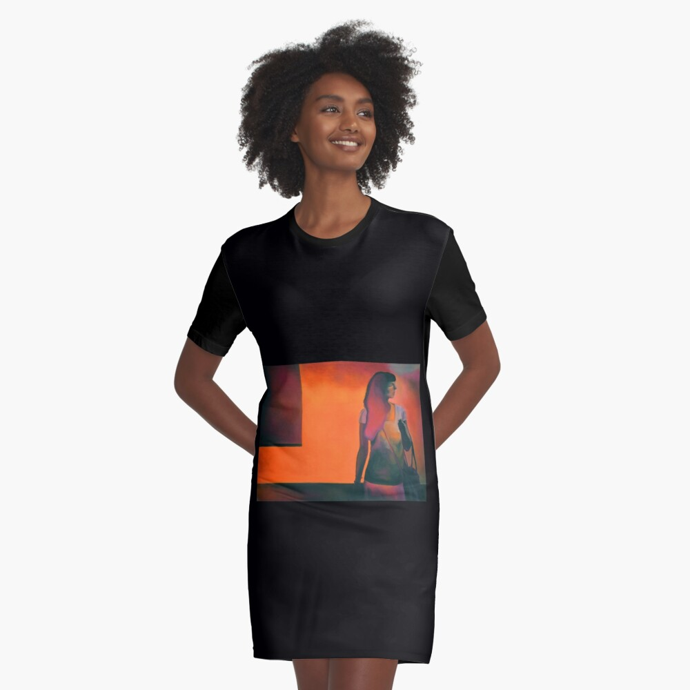 Burning flame, 2014, 120-80cm, oil on canvas Graphic T-Shirt Dress Front