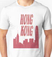 I Love my city Hong Kong. Capital city silhouette with touristic places T-Shirt