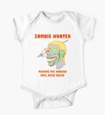 Zombie Hunter Funny Cartoon Walker Undead Head Kids Clothes