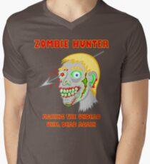 Zombie Hunter Funny Cartoon Walker Undead Head T-Shirt