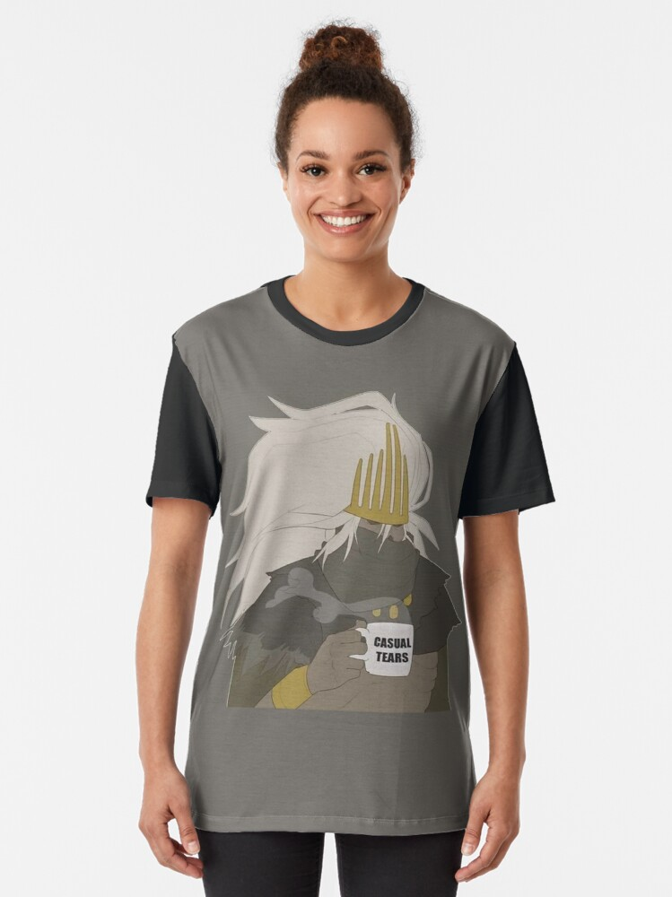 Alternate view of Casual Tears......Many Casual Tears Graphic T-Shirt