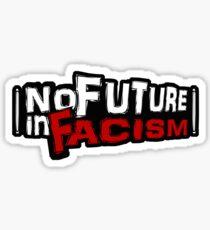 """No Future in Facism"" Punk Sticker Sticker"